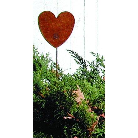 Village Schmiedeeisen 88,9cm Herz Rost Gartenstecker, Multi, H: 35x W: 14,9x D: 0,18