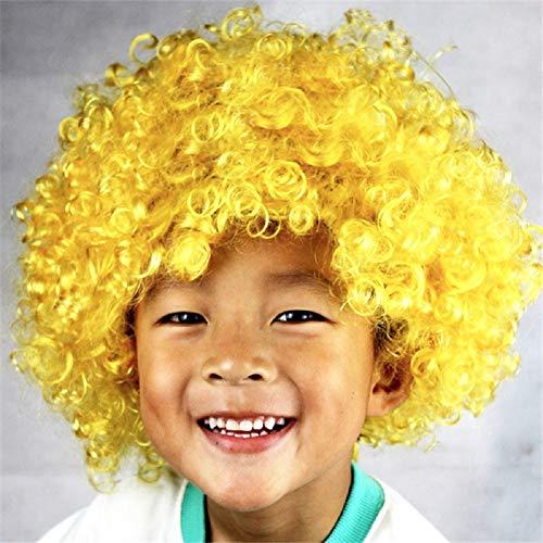 Peluca amarilla rizada para niños
