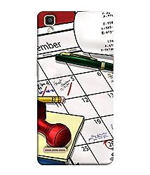 99Sublimation Designer Back Case Cover for Oppo F1 Calendar Stamp Pad