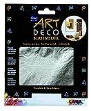 Kreul 99422 - Papeterie und Sticker - Art Deco Blattmetall, 25 Blatt, 14 x 14 cm, silber
