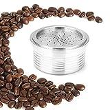 Capsule Riutilizzabili per LAVAZZA Espresso Point Acciaio Cialde Capsula Ricaricabile con 1 pennello + 1 cucchiaio