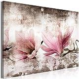 decomonkey Bilder Blumen 60x40 cm 1 Teilig Leinwandbilder Bild auf Leinwand Vlies Wandbild Kunstdruck Wanddeko Wand Wohnzimmer Wanddekoration Deko Magnolie