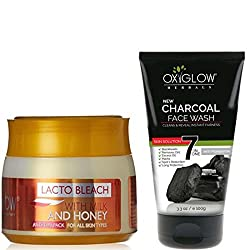 OXYGLOW LACTO BLEACH AND CHARCOAL FACE WASH