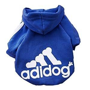Moolecole - Hoodies chauds Chien Chat Pull Puppy T-shirt Manteau Vêtements Vêtements (L)