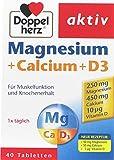 DOPPELHERZ Magnesium + Calcium + D3, 40 Tabletten (2er Pack)