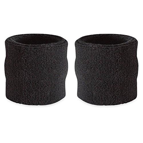 Suddora - Polsini assorbisudore a righe (coppia), Black