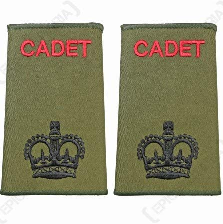 Británico Ejército oliva verde Cadet Rango diapositivas–CSM