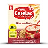 Nestle Cerelac Fortified Baby Cereal with Milk, Wheat Apple Cherry - From 8 Months, 300g BIB Pack