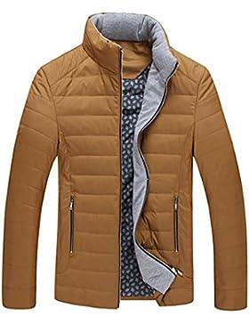 Escudo de Down chaqueta de cuello de invierno de los nuevos hombres del estilo , yellow , m