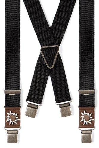 Trachten Hosenträger - ALPIN - schwarz, Größe Sonderlänge
