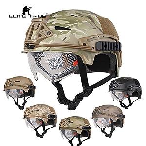 airsoft chasse casque tactique combat EXF BUMP style casque et lunettes