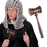Richterhammer Auktionshammer Richter Hammer Aktion Gerichtshammer Professor Klopfer Anwalt Kostüm Accessoire Karnevalskostüme Zubehör
