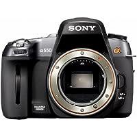 """Sony DSLR-A550- Appareil photo reflex numrique 14 Mpix Ecran LCD 3"""" Dtection de Visage Stabilisateur Noir"""