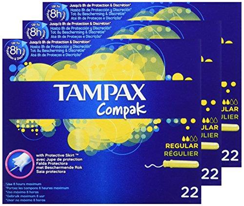Tampax Compak Tampones Regular 22 aplicador plástico