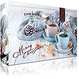 Teebeutel Adventskalender mit 2x24 Pyramiden-Teebeuteln