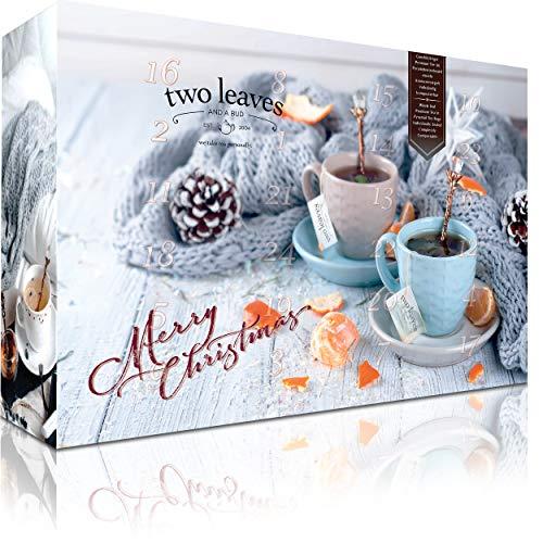 Teebeutel Adventskalender mit 24 Pyramiden-Teebeuteln