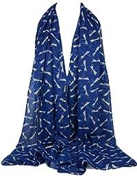 2e2fa2890b55 GFM Fastglas Dragon Fly toutes saisons Écharpe Imprimé léopard et foulard  foulard,…