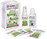 Desinfektions-Set | sehr gute Hautverträglichkeit | Desinfektionsspray 50ml, Desinfektionsgel 60ml, 5x Desinfektionstücher | Für Unterwegs & Flugreisen