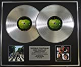 THE BEATLES/Zweifache Platin Schallplatte DISPLAY/Limitierte Edition/COA/ABBEY ROAD & LET IT BE