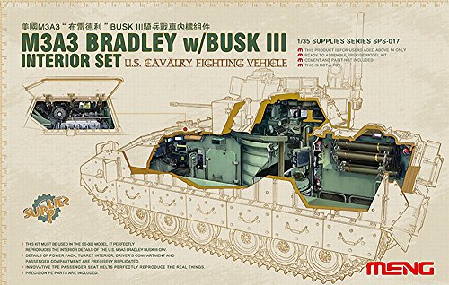 Meng SPS017 - 1/35 Interior Set for M3a3 Bradley with Busk III and SS006
