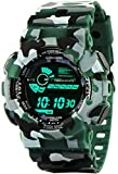 #9: Addic Multicolor Dial Army Green Strap Digital sports Watch For Men's & Boys.
