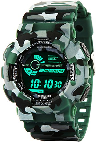 Addic Multicolor Dial Army Green Strap Digital sports Watch For Men's & Boys.