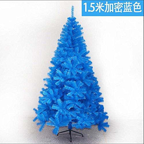 XYYN Albero di Natale PVC 5ft / 1.5M Artificiale Albero di Natale con 400 Suggerimenti Treppiede metallico - Blu , blue