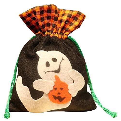 LJTOUS Halloween Candy Tasche Korb Eimer Behandeln oder -