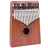 ccmart Kalimba Mbira 17teclas pulgar Piano sólido dedo Piano cuerpo de caoba con Kalimba bolsa y notación musical, música tradicional africana instrucments 17tono perfecto para niños principiantes amantes de la música