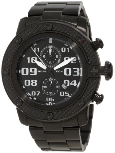 Glam Rock Men's GR33111 SoBe Chronograph Black Dial Black Ion-Plated Stainless Steel Watch