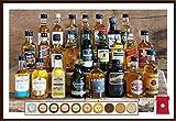 Adventskalender 24 Whisky Miniaturen + 24 Edel Schokoladen (inkl. 2 Meersalztaler) Confiserie DreiMeister & DaJa + 24 rote Satinbeutel kostenloser Versand