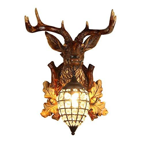 tete-de-cerf-faux-vintage-resine-marron-1-lumiere-a-linterieur-de-wall-lamp-glass-beaded-globe-petit
