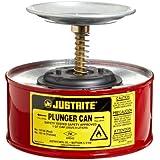 """JustRite 10108émbolo de acero de seguridad para abrir latas, con montaje de bomba Ryton, Capacidad de 1L, 7–1/4""""OD x 5–7/8"""" de altura (18,4 x 14,7 cm), rojo"""