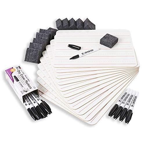 Charles Leonard INC magnetisch LAPBOARD CLASS PACK mit je 12UNI/gefüttert White Boards, 2Radierer, schwarz 'Pocket Dry Erase Marker, 1Set (Indigoblau
