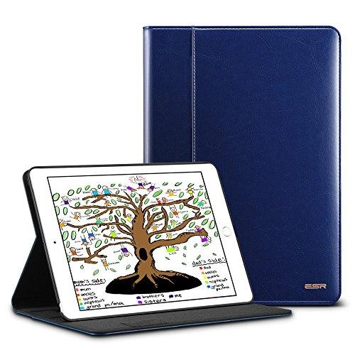 ESR Hülle Kompatibel mit iPad 2018 / iPad 2017 9,7 Zoll Modell, Kunstleder Smart Case Cover mit Stifthalter, Business-Stil PU Ledertasche mit Auto Schlaf-/Aufwachfunktion - Blau -