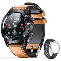 AGPTEK Smartwatch, Reloj Inteligente 1.3 Inch HD con Control de Podómetro Pulsómetro Cronómetro Calorías Monitoreo del Sueño, Pulsera Actividad de Fitness IP68 con Correa Repuesta para Hombre Mujer