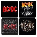 AC DC - Untersetzer Coaster 4er Set - Logo Mix