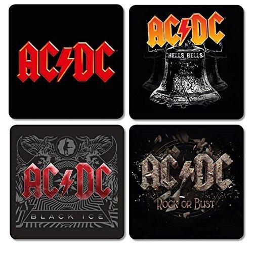 AC DC-Sottobicchieri Coaster Set di 4-Logo Mix