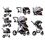 TomiKid Grey Travel System 3 in 1 Combi Stroller Buggy with car seat Baby Child Pushchair Reverse or Forward Facing Rain…
