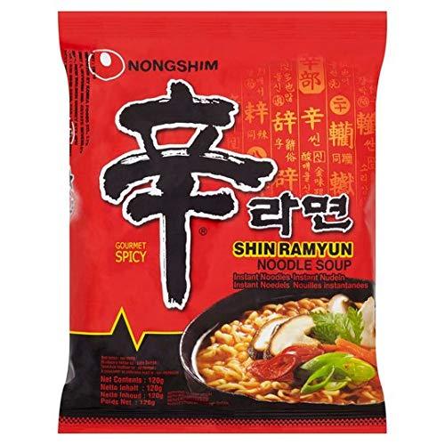 Nong Shim Shin Noodle Ramen Ramyun (Pack of 40)