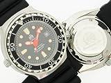Taucher Uhr m. Automatik Werk Saphir Glas PU Band Helium Ventil T0079 - 3