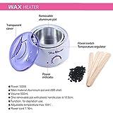 #9: Tmishion Pro-Wax UK Plug Heater Set - Hard Wax Bean (100 Gm), Depilatory Spatulas - 500Ml