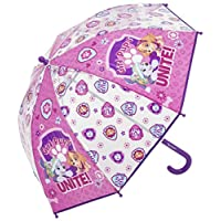 Kids Umbrellas for Girls or Boys - Paw Patrol Small Mini Bubble Dome 8 Rib Umbrella for Children in Pink