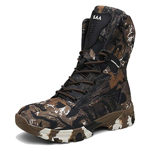 GOAIJFEN Herrenstiefeletten Jungle Combat Boot Spezialeinheiten Recon Tactical Security Boot Camo Militärstiefel Atmungsaktive Armeeschuhe,Camo Brown-44 -