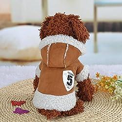 Ropa para Perros,Xinan Camiseta Abrigo de Cachorro Ropas Invierno Perro Yorkie (Café, M)
