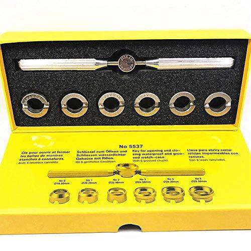 Preisvergleich Produktbild Uhrengehäuse-Öffner Entferner,  7-teiliges Set,  Uhrmacher-Reparatur-Set mit verschiedenen Größen,  gerillt,  für Rolex Tudor und andere Uhren