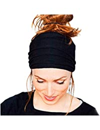 Accesorios para el Pelo Oyedens Venda Ancha Yoga Boho Running Para Mujer De Los Accesorios Del Pelo De La Venda De Headwrap No Del ResbalóN