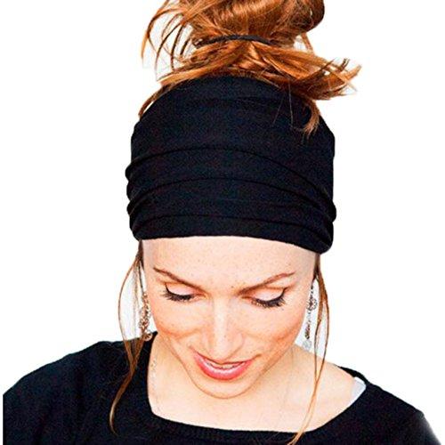 Accesorios para el Pelo Oyedens Venda Ancha Yoga Boho Running Para Mujer De Los Accesorios Del Pelo De La Venda De Headwrap No Del ResbalóN (4.7*9.1