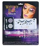 shoperama Halloween Schmink-Set mit Wimpern Strass Glitter Vampir Hexe Spinne Schminke Make-up Kit, Namen:Witchy Eyes