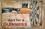 """GUINNESS, Freccetta per IRISH Pub """", in scatola di metallo"""
